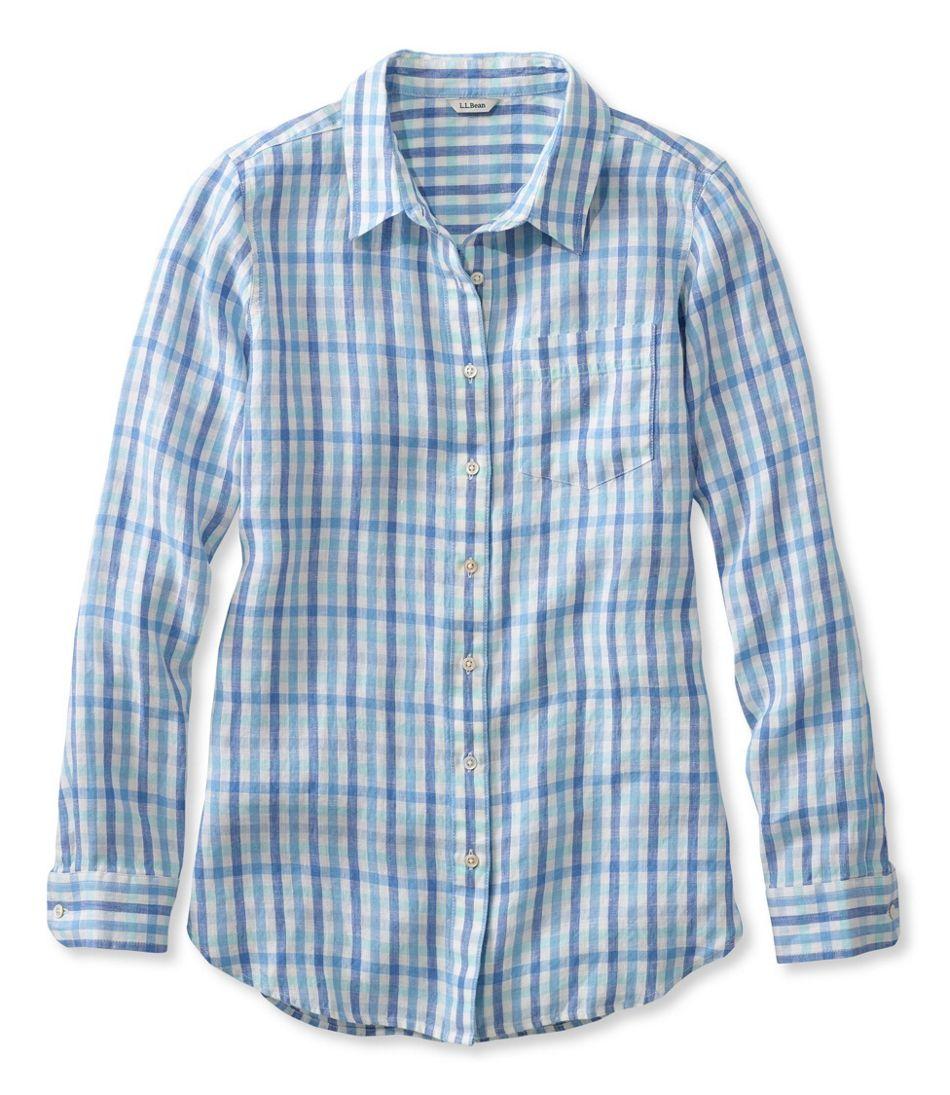 Premium Washable Linen Shirt, Tunic Gingham