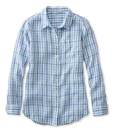 Premium Washable Linen Shirt, Tunic Gingham