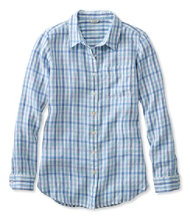 Women's Premium Washable Linen Shirt, Tunic Gingham