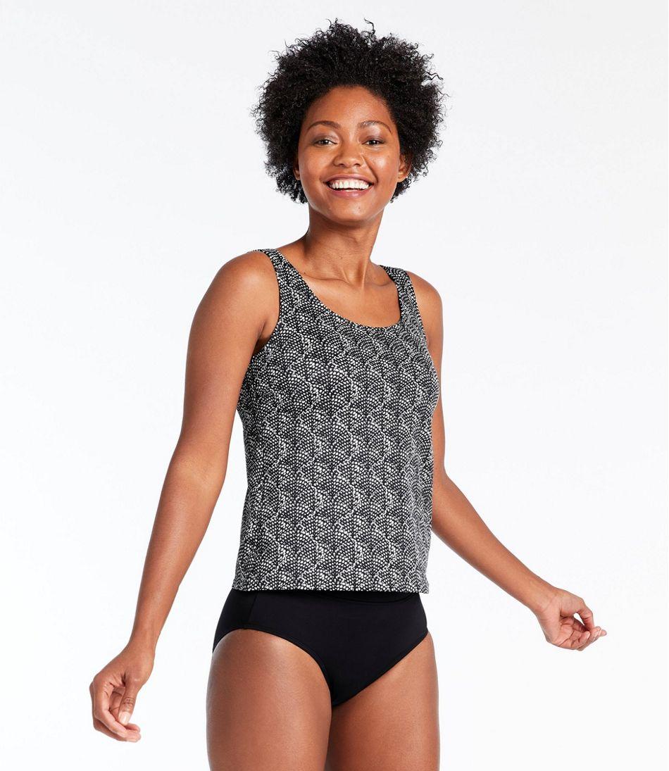 BeanSport Swimwear, Tankini Top, Scoopneck Shell Print