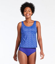BeanSport Swimwear, Tankini Top Scoopneck Shell Print