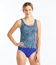 Women's BeanSport Swimwear, Tankini Top Scoopneck Painted Floral