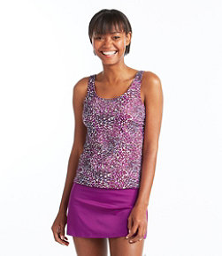 BeanSport Swimwear, Tankini Top Scoopneck Painted Floral