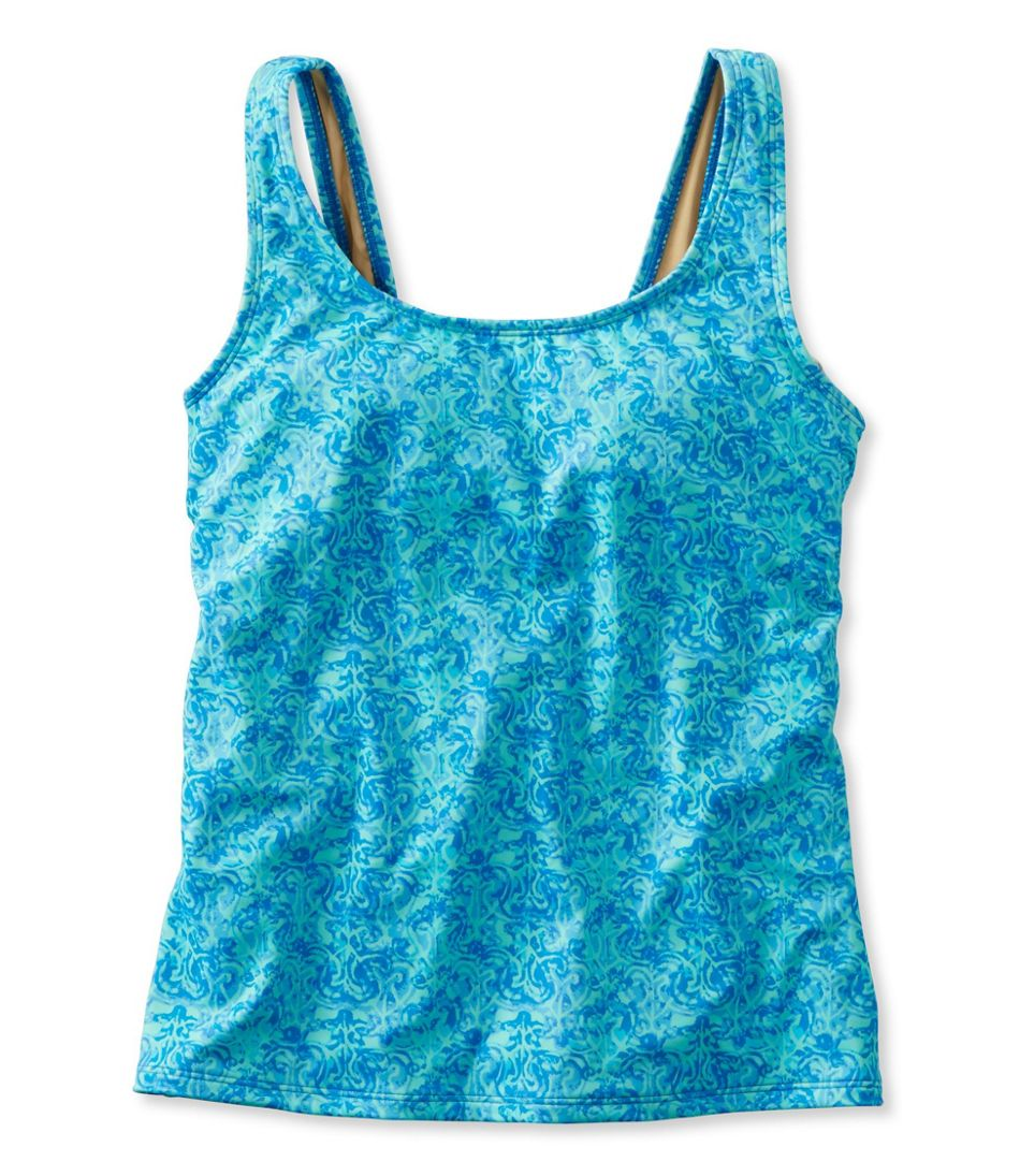 BeanSport Swimwear, Tankini Top Scoopneck Watercolor Print
