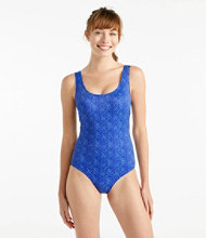 BeanSport Swimwear, Tank With Soft Cups Shell Print
