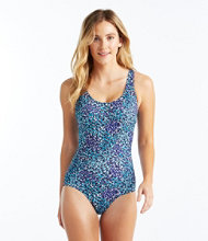 BeanSport Swimwear, Tank With Soft Cups Painted Floral