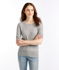 Signature Cashmere Sweater, Short-Sleeve