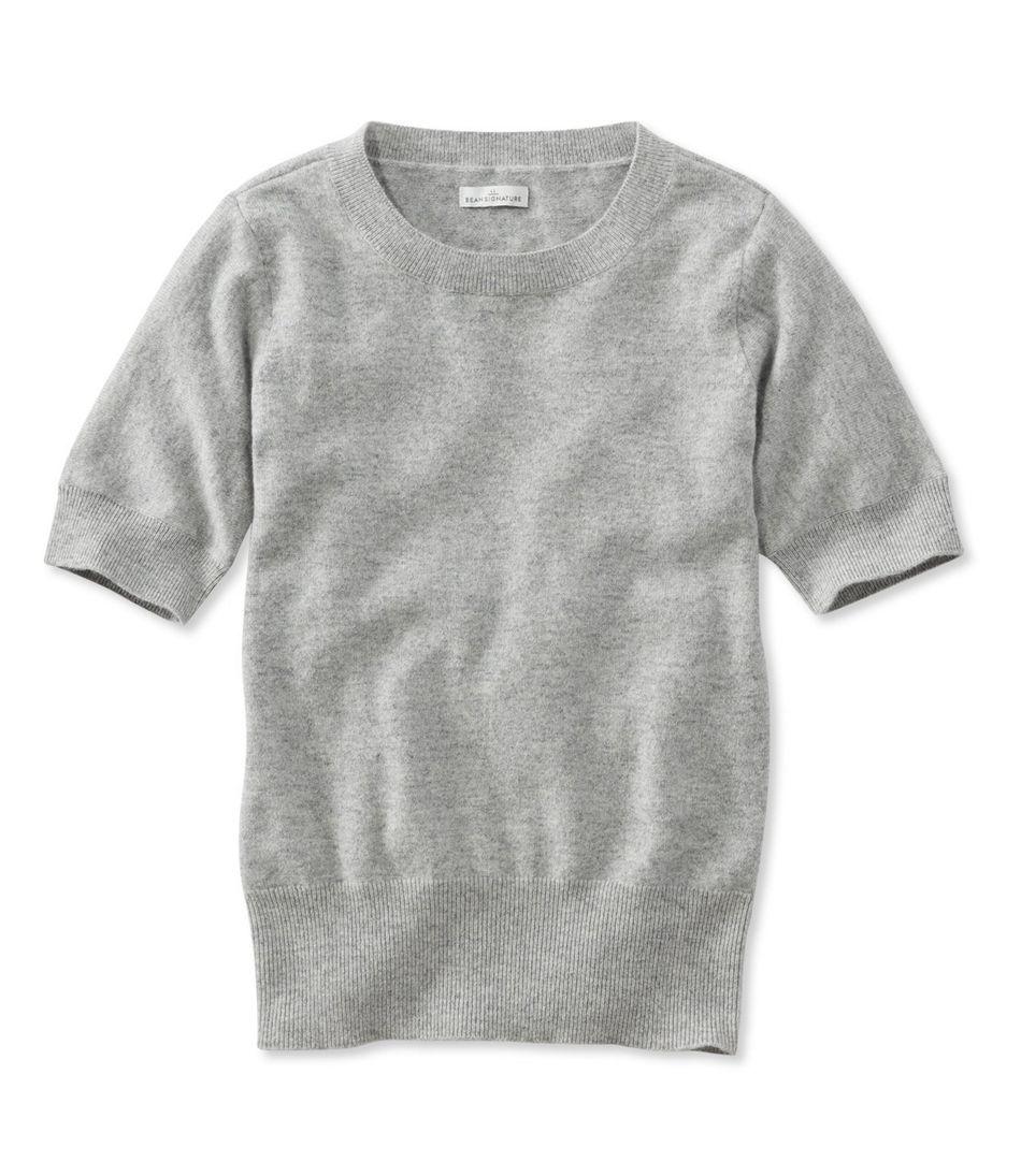 Women's Signature Cashmere Sweater, Short Sleeve