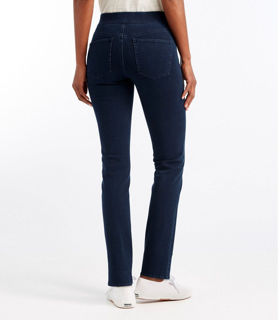 Superstretch Slimming Pull-On Jeans, Classic Fit Straight-Leg