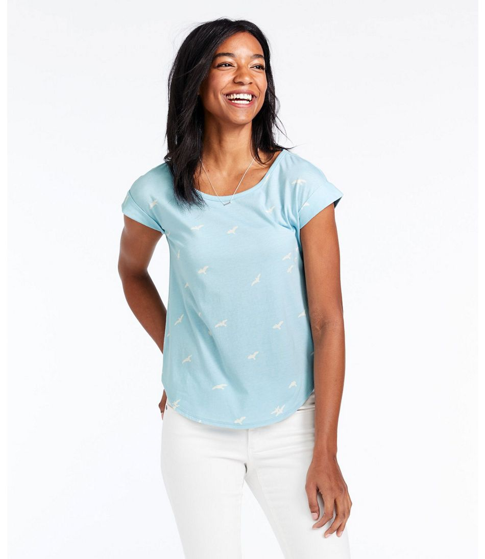 Women's Signature Cotton/Modal Scoopneck, Short-Sleeve