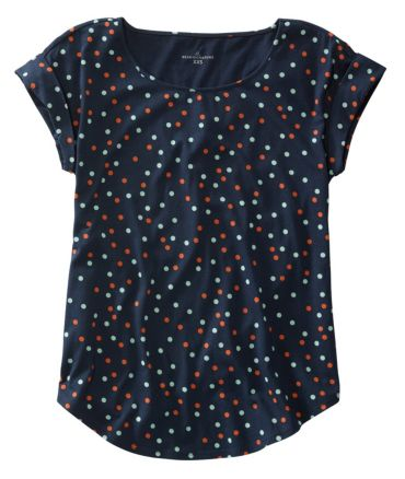 Signature Cotton/Modal Scoopneck, Short-Sleeve Floral Print