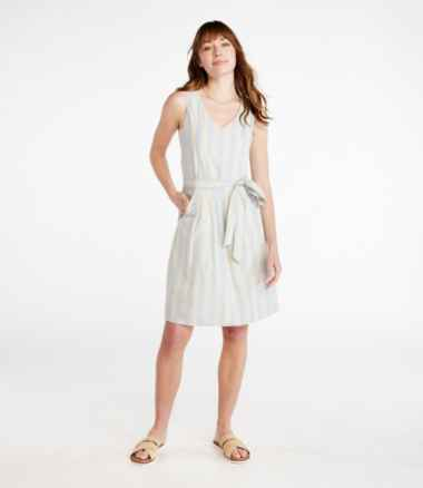 Women's Signature V-Neck Poplin Dress, Print