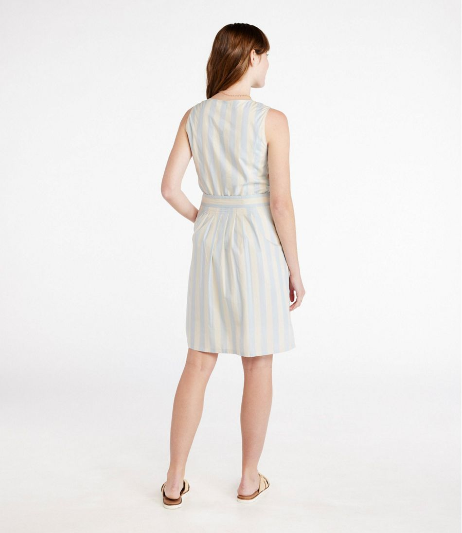 The Signature V-Neck Poplin Dress, Print
