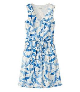 Women's Signature V-Neck Poplin Dress, Print