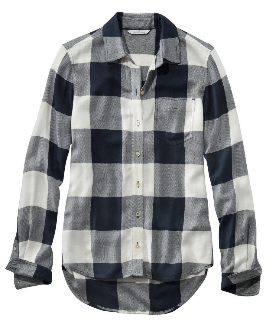 Signature Drapey Button-Front Shirt