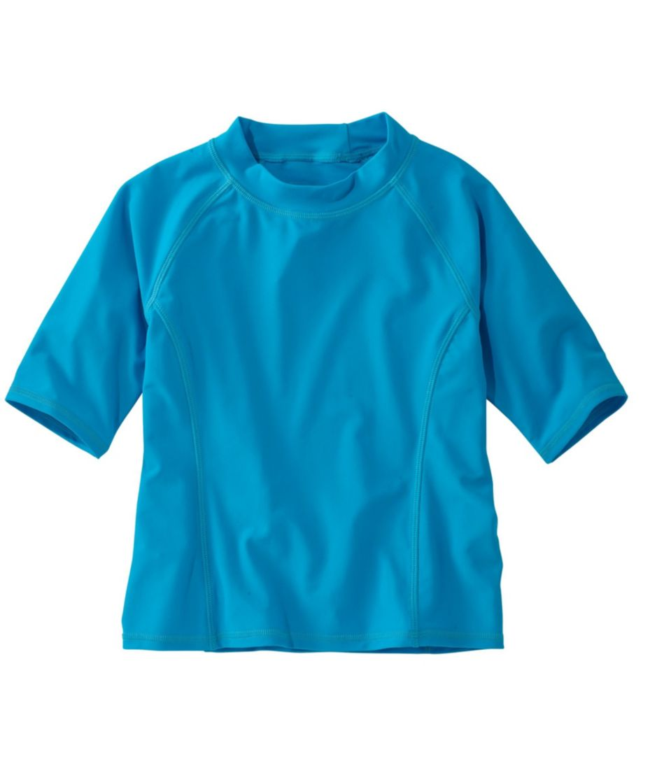 Girls' Sun-and-Surf Shirt, Half-Sleeve