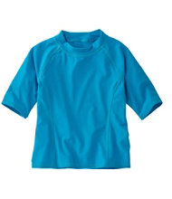 Girls' Sun-and-Surf Shirt, Half-Sleeve