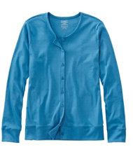 Pima Tops, Button Cardigan Long-Sleeve