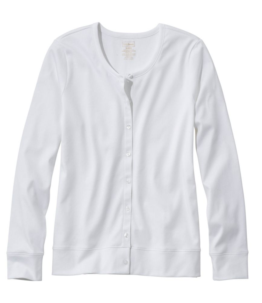 Pima Long-Sleeve Button-Front Cardigan