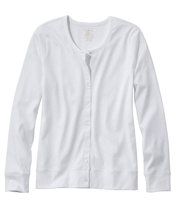 Women's Pima Cotton Button-Front Cardigan, , large image number 0