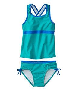 Girls' Tide Surfer Swimsuit, Two-Piece