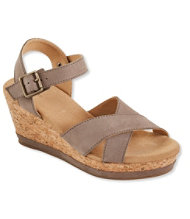 Women's Wedge Strap Sandals, Nubuck