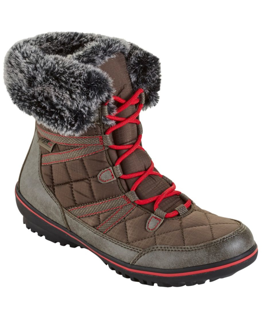Women's Snow Harbor Synthetic Quilted Ankle Boots, Waterproof Insulated