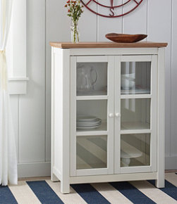 Painted Farmhouse Cabinet, Wood Top