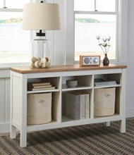 Painted Farmhouse Storage Console, Wood Top