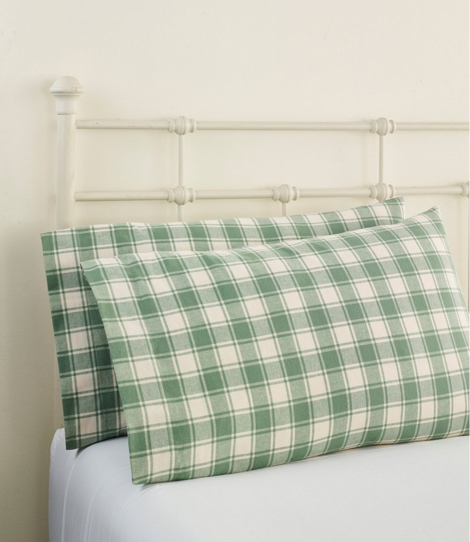Ultrasoft Comfort Flannel Pillowcases, Check Set of Two