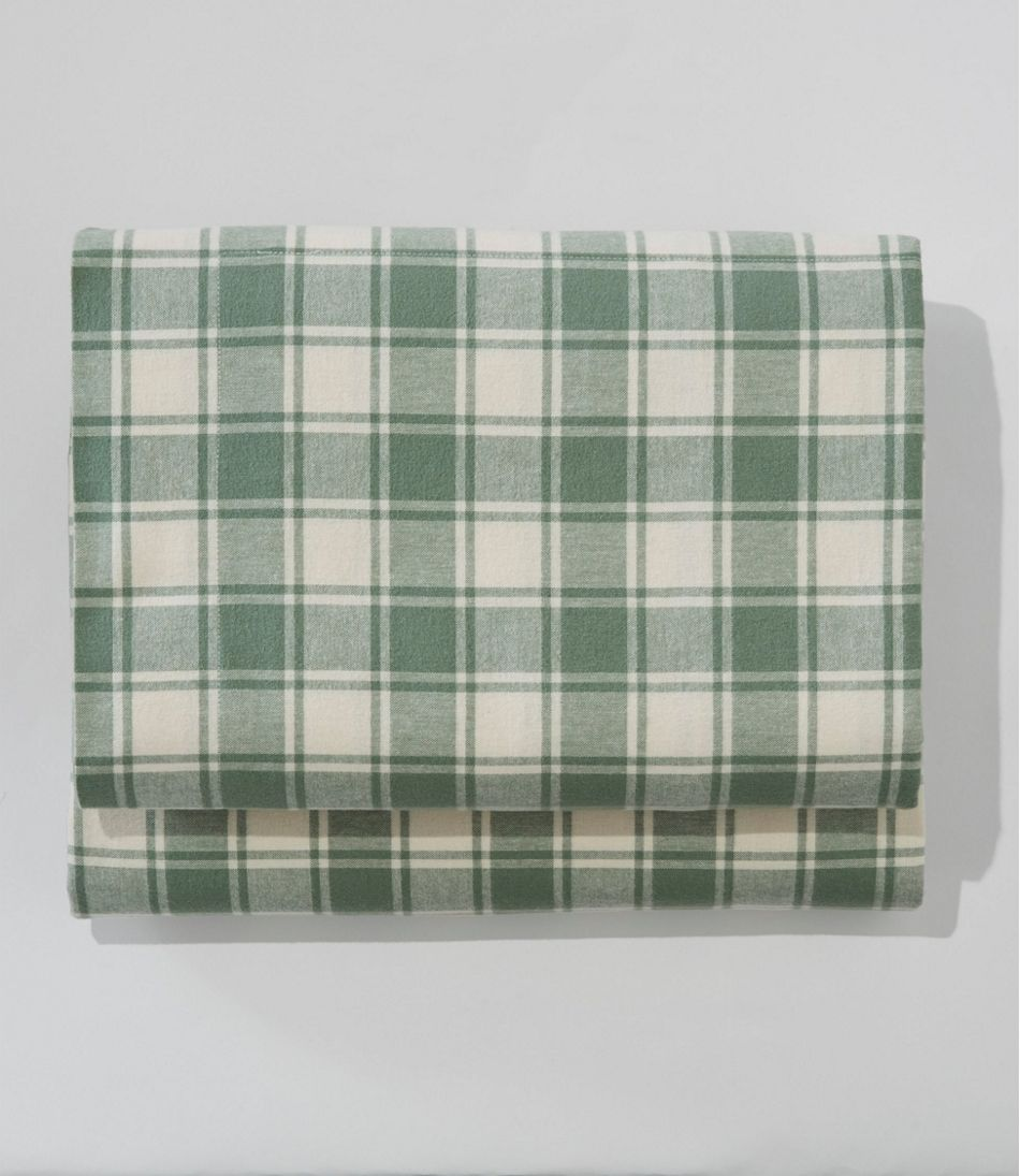 Ultrasoft Comfort Flannel Sheet, Fitted Check