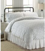 Sunwashed Percale Comforter Cover, Leaf Print
