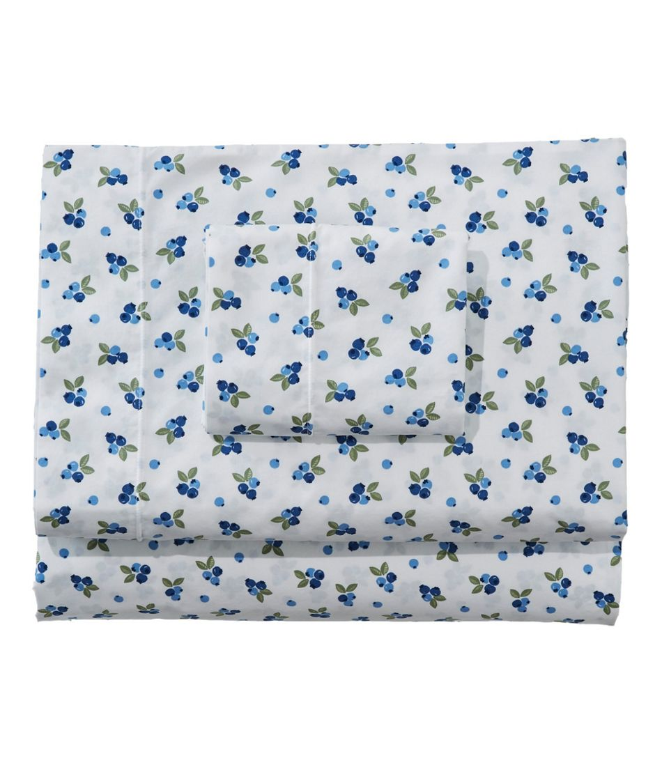 Blueberry Percale Sheet Collection