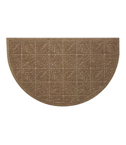 Heavyweight Recycled Waterhog Doormat, Crescent Leaf