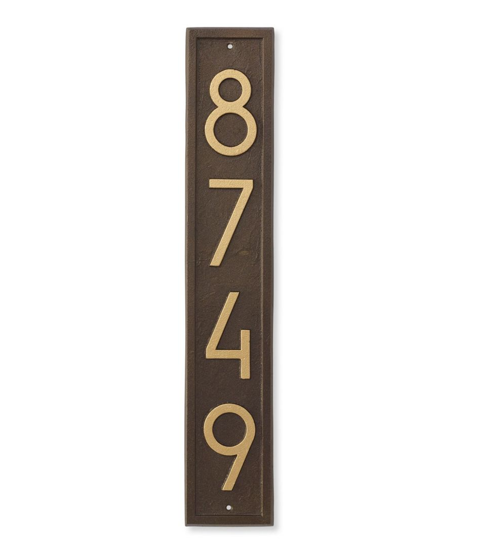 House Number Plaque, Vertical