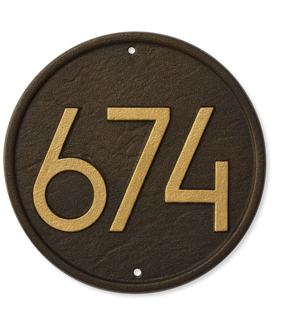 House Number Plaque, Round