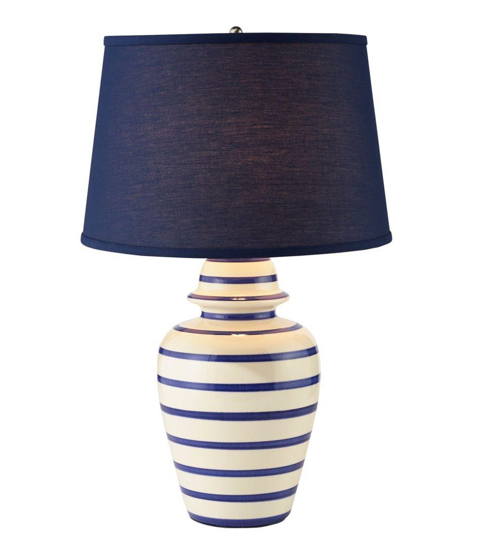 Portland Ceramic Lamp, Stripe