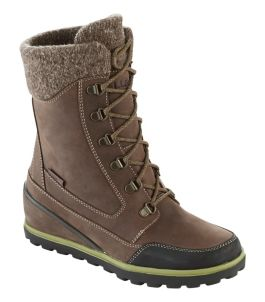 Wedge Snow Boot, Leather