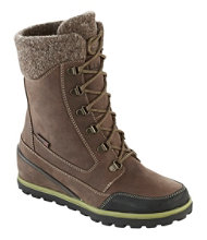 Women's Wedge Snow Boot, Leather