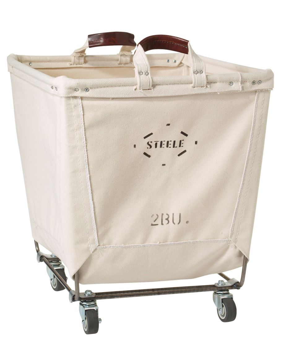 Steele Two Bushel Small Carry Basket with Casters
