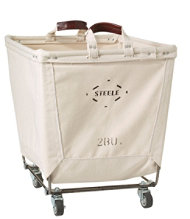 Two Bushel Small Carry Basket with Casters