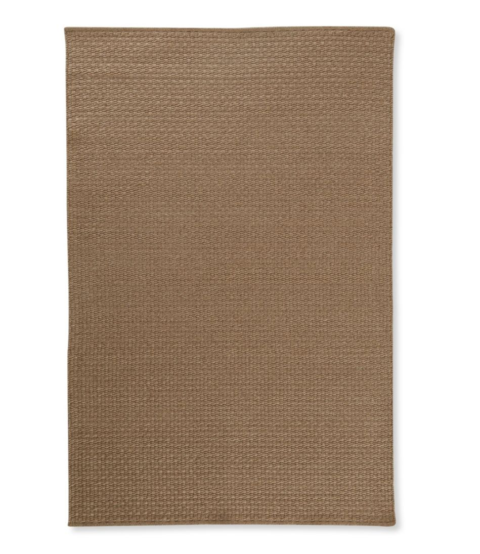Indoor/Outdoor Basketweave Rug, Neutral Solid