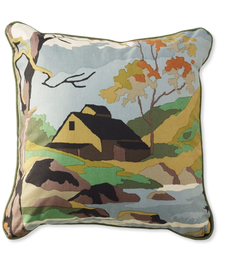 Canvas Throw Pillow, Woodland Stream