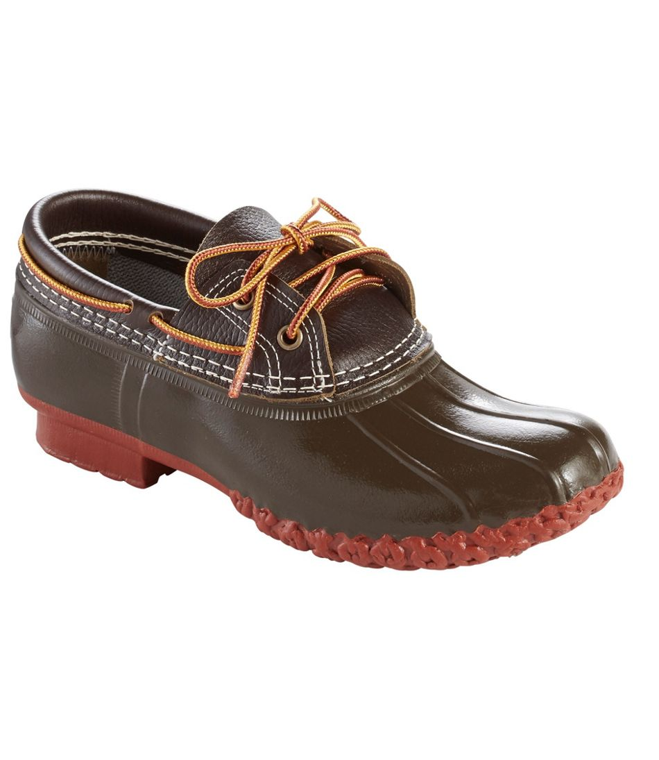 Women's L.L.Bean Boots, Two-Eye Boat Gumshoes, Leather