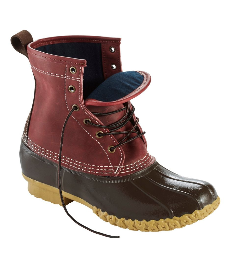 """Men's Small Batch L.L.Bean Boot, 8"""" Leather Chamois-Lined"""