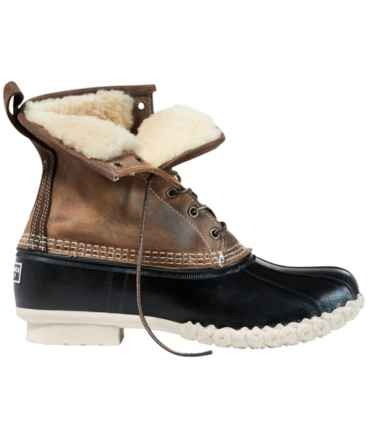 "Men's Bean Boots, 8"" Shearling-Lined"