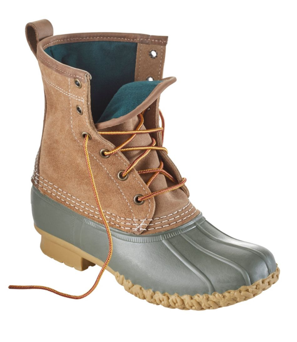 """Women's Small Batch L.L.Bean Boot, 8"""" Leather Chamois-Lined"""