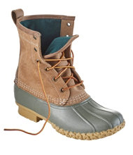 "Women's Small Batch L.L.Bean Boot, 8"" Leather Chamois-Lined"