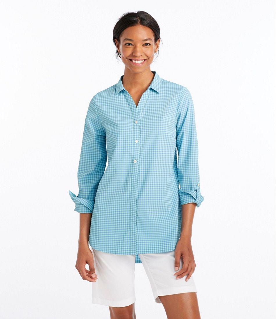 Stretch Travel Tunic Shirt, Gingham