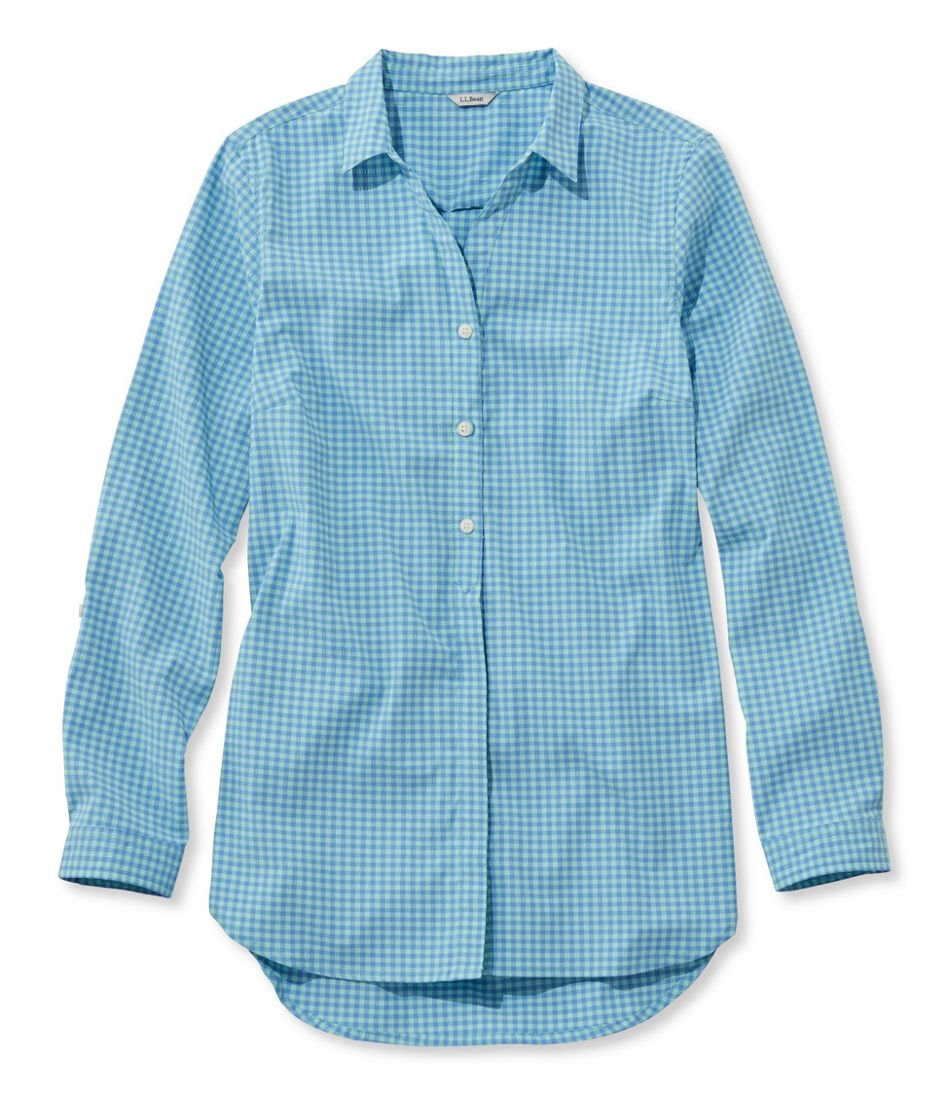 b6c60656bbbbd Stretch Travel Tunic Shirt, Gingham